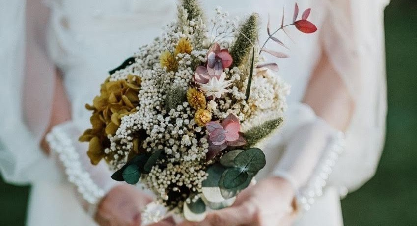 Ramos de flores preservadas